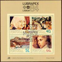 PORTUGAL 1984 BRIEFMARKENAUSSTELLUNG LUBRAPEX Block ESST /  LUBRAPEX 84 MS FDI