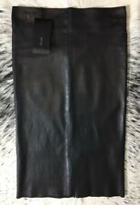"$1700 JITROIS ""CHANTAL"" STRETCH LEATHER PENCIL SKIRT, SZ IT/38 US/4 BLACK"