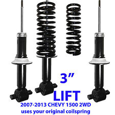 """CHEVY FRONT 3"""" LIFT LEVELING KIT CHASSIS TECH NITRO STRUTS SHOCKS 2WD/4WD2007-13"""