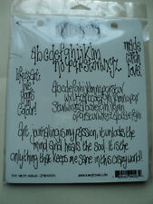 RANGER DYLUSIONS BY DYAN REAVELEY CLING STAMPS THE WRITE WORDS NEW! *LOOK*