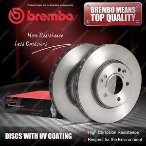 "2x Front Brembo UV Coated Disc Brake Rotors for Chrysler Voyager RG RS 16"" Wheel"