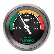 LMA TURBO BOOST GAUGE BLACK FACE Nero Lunetta 52mm DIAM RACE RALLY -1 a +2 bar