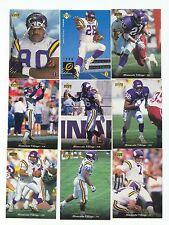 1995 Upper Deck Minnesota Vikings Complete Team Set! Cris Carter Warren Moon ++