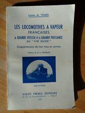 LOCOMOTIVES FRANCAISES GRANDE VITESSE  PUISSANCE PACIFIC TRAIN CHEMIN DE FER