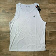 "Mens White Under Armour Ua ""The Tech Tank"" HeatGear Tank Top 2Xl Xxl Nwt"