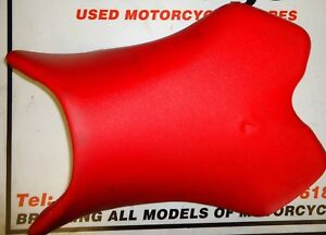 YAMAHA YZF R1 2007 2008 4C8:SEAT RED - FRONT:USED MOTORCYCLE PARTS
