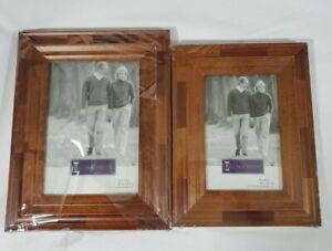 Connoisseur Vintage 4x6 & 5x7 Patch Wood Photo Picture Frame Vintage Farmhouse