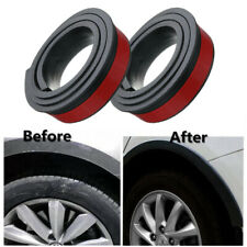 2x 1.5m Black Anti-collision Mudguard Trim Rubber Car SUV Wheel Arch Moldings