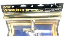"""Satco Pictures Light 14"""" Deluxe POLISHES Brass Finish S72-202 VINTAGE FIND"""