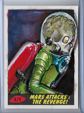2017 TOPPS MARS ATTACKS THE REVENGE SKETCH CARD BY JOHN BREWER 1/1