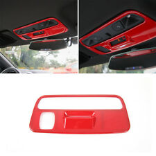 Red Reading Lights Cover Lamps Trim Frame Interior Part For Chevrolet Camaro 17+