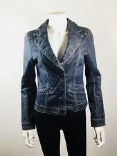 CABI JEANS Denim Button Front Blazer Suit Jacket Size Small