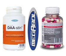 Megabol Nutrition Creatine Alkaline 1500 + DAA Acid Powder, Muscle Mass & Power