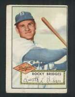 1952 Topps #239 Rocky Bridges VG/VGEX RC Rookie Dodgers 108621