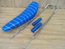 "20"" BLUE SPARKLE Lowrider Krate Bicycle BANANA SEAT SISSY BAR Grips Included"