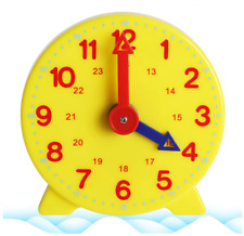 Teach The Time 24 Hour Student Clock 10cm Learning Resource Maths Home Education