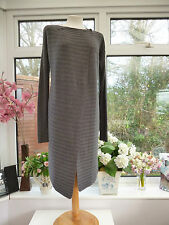 GORGEOUS *GREAT PLAINS* LONG GREY CARDIGAN WITH A TOUCH OF ANGORA Sz XS