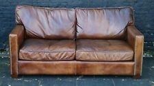 Timothy Oulton Viscount William Leather Sofa - Amazing Condition - Free Delivery