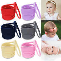 10Pcs/lot Soft Headband for Baby Nylon Hairband DIY Hair Accessories Elastic