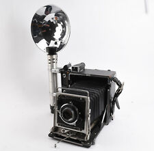 Graflex Pacemaker Speed Graphic 4x5 Press Camera Kit With Optar 135mm Lens Case