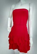 Designer MAJE Kadema silk ruffle dress size 10 --USED ONCE-- 100% silk rose