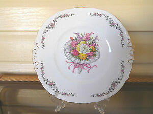 "Colclough ""Nosegay"" Cake Plate Made In England"