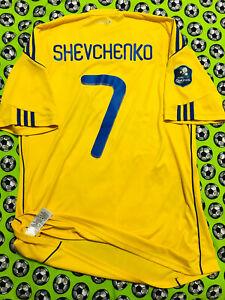 RARE Adidas Ukraine Home Soccer Football Jersey 2010 2011 Andriy Shevchenko