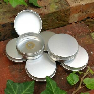 Round Metal Tin 60ml *Camping Survival Kit 70 x 25mm *NEW Stash Pot Coins Balm
