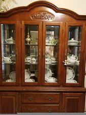 oak china cabinet hutch