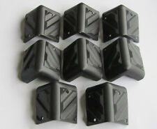 Set of 8 Small Black Plastic Guitar Amp Speaker Corner PA Cabinets Protector