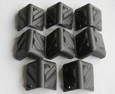 Set of 8 Small Black Plastic Guitar Amp Speaker Corner PA Cabinets Protector