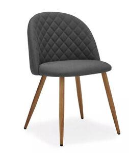 Dunelm Chair Grey Fabric - Astrid Chair Charcoal Fabric