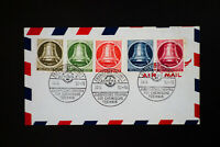 Germany Bell Stamp Set on First Day Cover FDC Beautiful Cancels