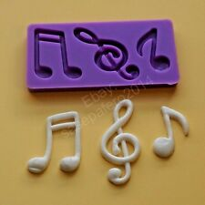 Music Notes silicone mold for chocolate, fondant, marzipan. 3 cavities