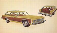 POSTCARD   MOTOR  CAR  ADVERT   CHEVROLET  1974  Caprice  estate  Station Wagon