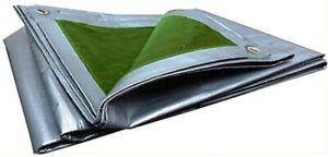 Lona Toldo con Ojales Impermeable Alta Calidad 133g/m Verde 4 x 6 Metros