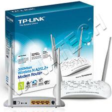MODEM ROUTER TP-LINK TD-W8961N ADSL2+ WI-FI WIRELESS 300MBPS GARANZIA ITALIA OK