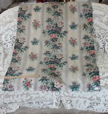 "French Antique Hand Blocked Chintz Panel~1yd13""L X32""W~Collectors,HomeDec,Frame"