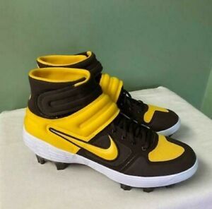 MEN'S NIKE ALPHA HUARACHE ELITE 2 MID MCS BASEBALL CLEATS CV8107-200 SIZE 13