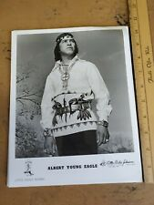 Vintage Autographed Country Artist Photo Albert Young Eagle Little Richie Record