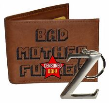 The Original BMF Brown Leather Wallet & Z Key Chain Combo