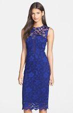 NEW! Nicole Miller 'Flower Scroll' Stretch Lace Sheath Dress (0) $385+