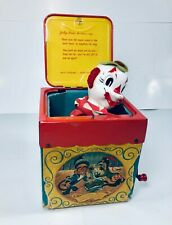 Vintage early 1950's MATTEL JOLLY-TUNE THE CLOWN JACK IN THE BOX