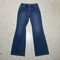 J.Jill Women's Denim Jeans ~ Sz 0P ~ Blue ~ Stretch ~ Boot Cut ~ Mid Rise