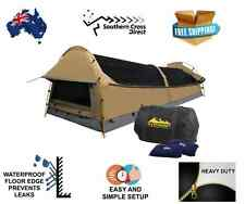 Double Camping Canvas Swag Free Standing Waterproof