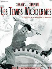 LES TEMPS MODERNES Affiche Cinéma / Original French Movie Poster CHARLES CHAPLIN