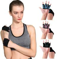 Crosfit Gloves Sports Wear Fingerless Hand Grip-Gym Gloves Training Practic H6F9