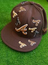 New Era MLB Houston Astros 7 1/4 Hat Brown Spell Out Cap