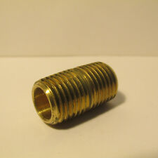"""LIVE STEAM LARGE SCALE 1/4 NPT BRASS 1.0"""" PIPE NIPPLE -- New Train Parts"""