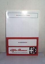 Manuale officina carrozzeria Alfa Romeo Giulia – 1750 Berlina – GT